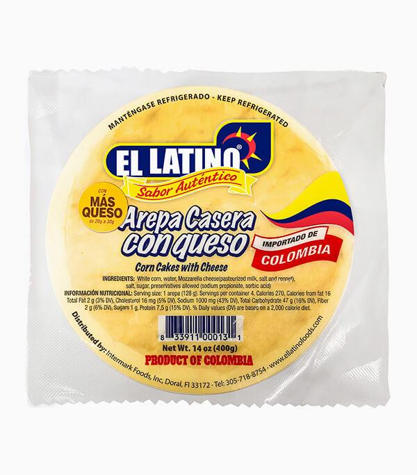 Arepa Colombiana De Maiz Con Queso El Latino Foods